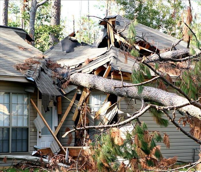 Storm Damage SERVPRO, Shreveport, Winds, and Flooding? We're Faster To Any Size Disaster